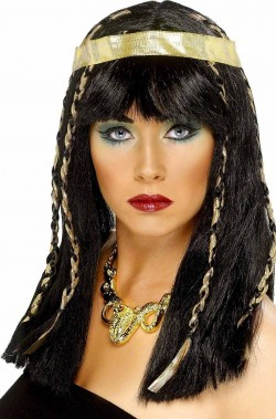 Parrucca donna lunga liscia Cleopatra
