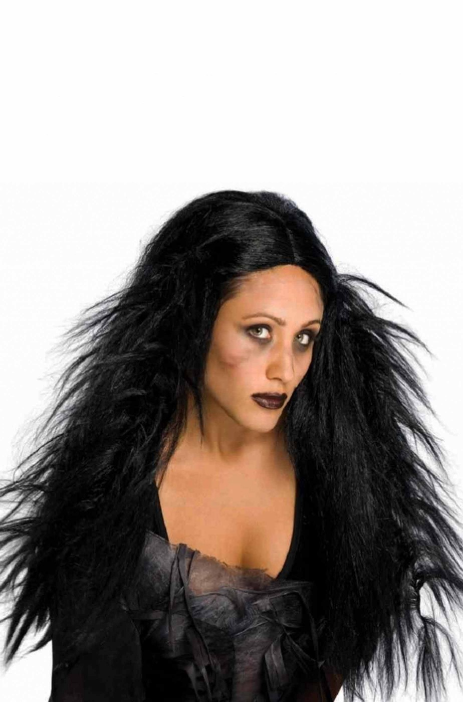 Parrucca donna lunga nera dark foltissima bellissima!