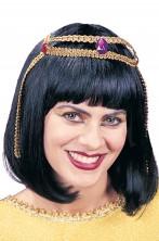 Parrucca donna nera corta Cleopatra