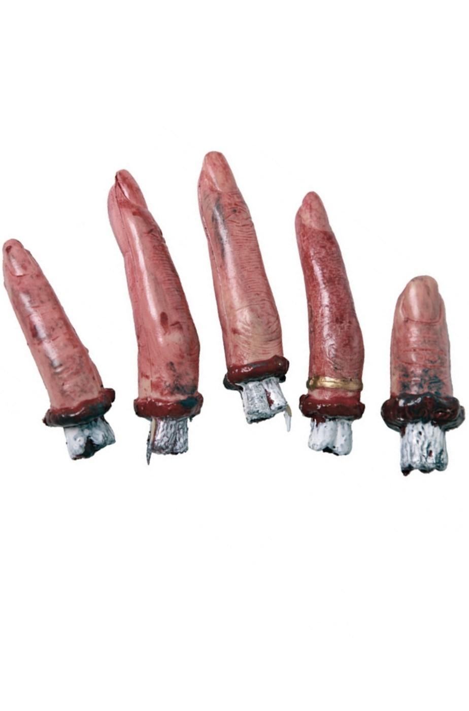 Confezione di 4  dita mozzate e sanguinanti