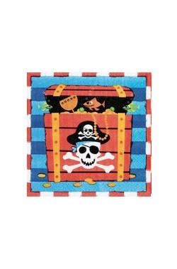 Set 16 tovaglioli party pirati cm 33x33