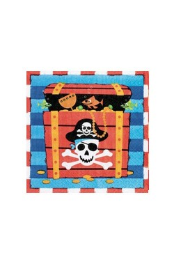 Set 16 tovaglioli party pirati cm 33x33