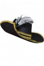 Cappello da pirata, cavaliere o moschettiere con piuma