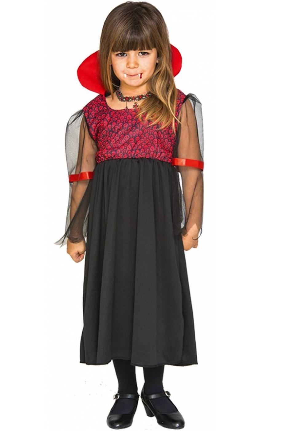 Costume bambina Vampira degli scheletri