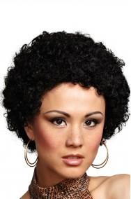 Parrucca afro clown anni 70 riccia nera