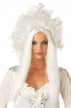 Parrucca donna bianca lunga