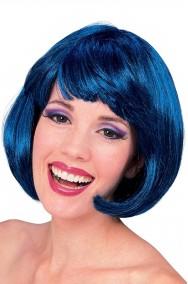Parrucca donna blu corta a caschetto