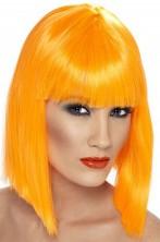 Parrucca donna corta arancione a caschetto