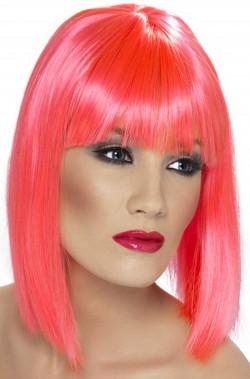 Parrucca donna corta rosa fucsia a caschetto