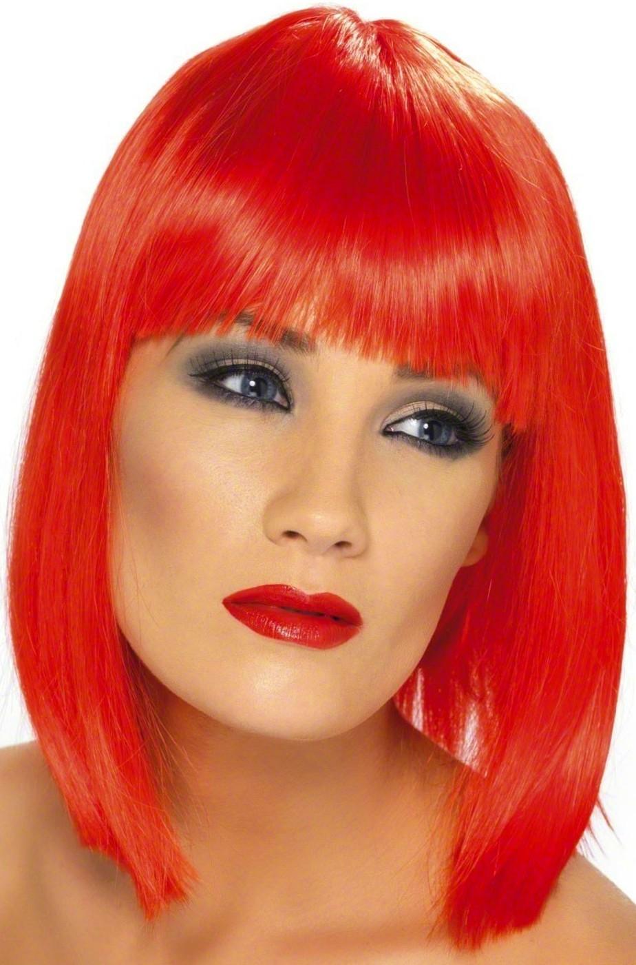 Parrucca donna corta rossa a caschetto