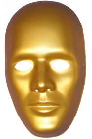 Maschera di carnevale color oro a tutto viso per robot e droide
