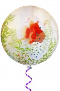 Acquario gonfiabile a palloncino a elio con alghe e pesce pagliaccio nemo
