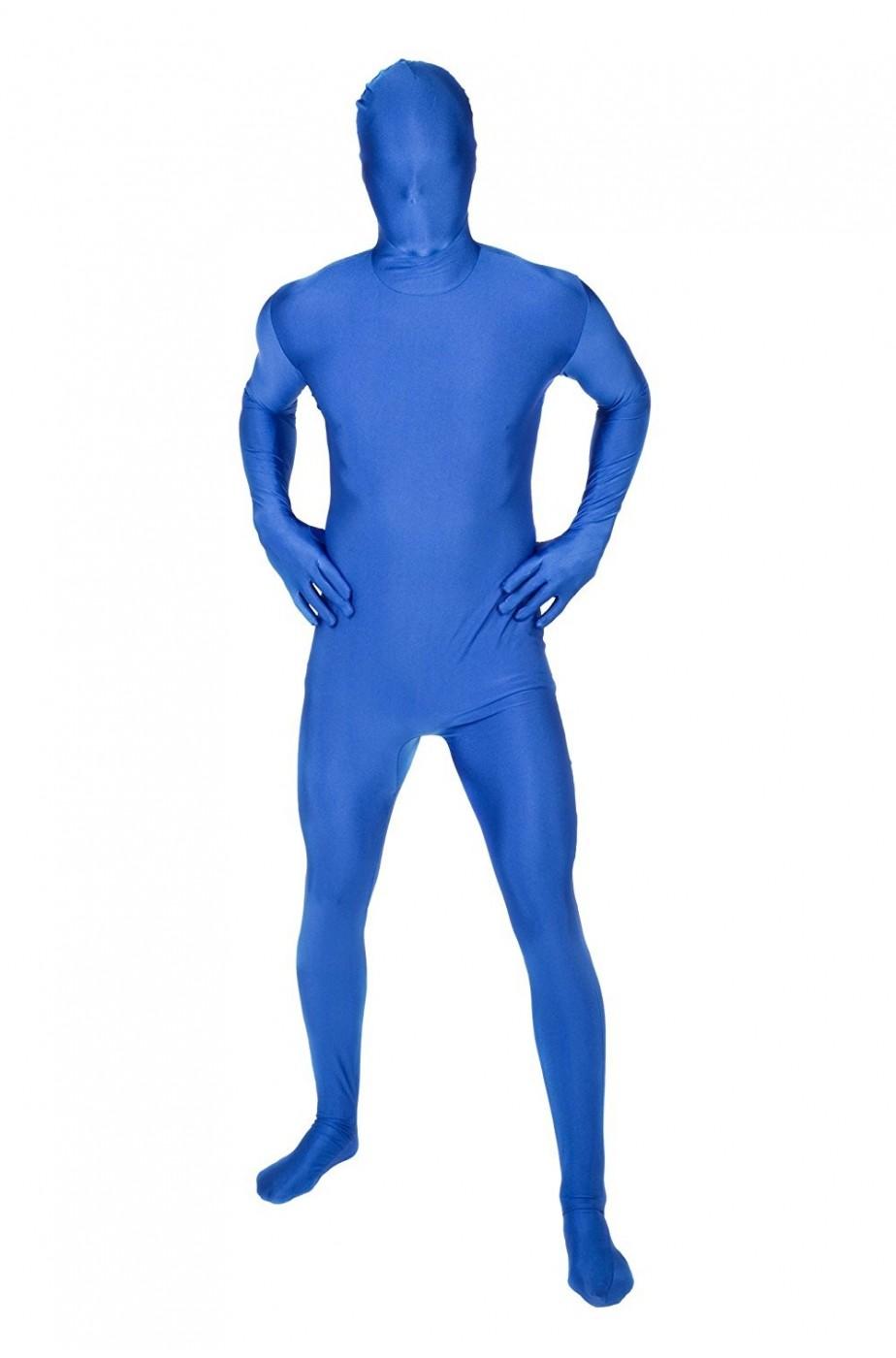 Costume blu morphsuit tuta 2nd skin aderente