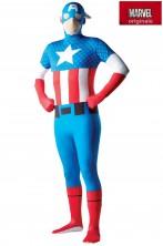 Costume Capitan America 2nd skin. Tuta aderente.Si beve attraverso