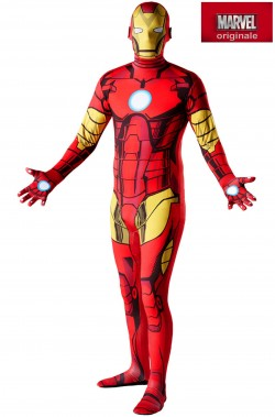 Costume Iron man 2nd skin.Tuta aderente.Si beve attraverso.