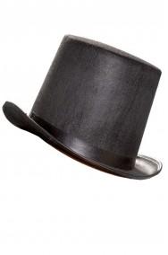 Cilindro nero in floccato per mago prestigiatore domatore o presentatore