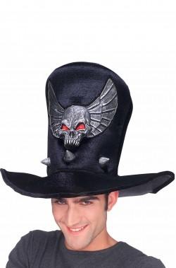 Cappello cilindro un stoffa con Teschio in Lattice