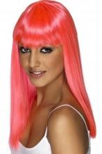 Parrucca donna lunga rosa