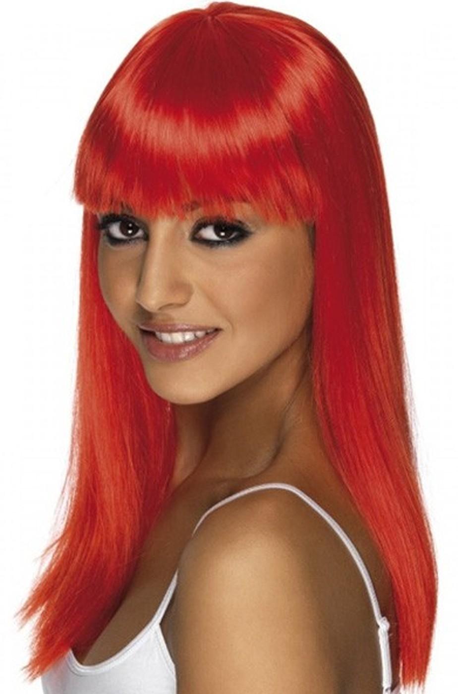 Parrucca donna lunga rossa