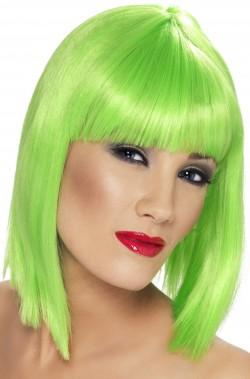 Parrucca donna corta verde a caschetto