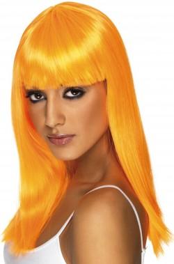 Parrucca donna lunga arancione
