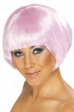 Parrucca donna rosa corta a Caschetto