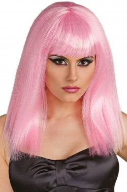 Parrucca lolita manga anime rosa pallido