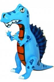 Drago o dinosauro gonfiabile draghetto altezza 69cm blu