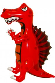 Drago gonfiabile draghetto altezza 69cm rosso