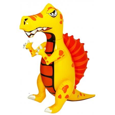 Drago o dinosauro gonfiabile draghetto altezza 69 cm giallo
