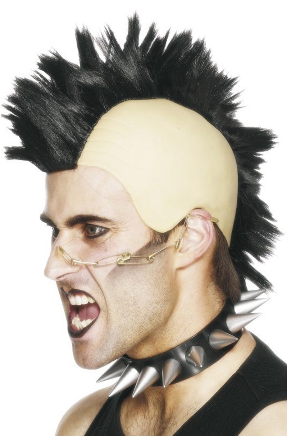 Parrucca unisex Nera con cresta Punk