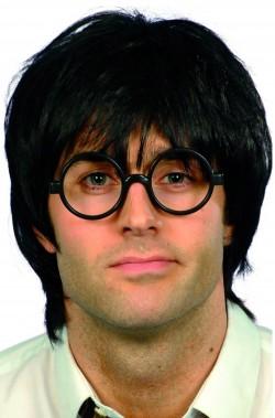 Parrucca Uomo nera corta Con Occhiali per Harry Potter
