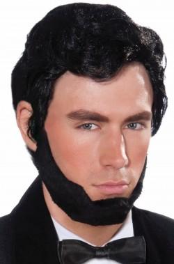 Parrucca uomo nera corta Abramo Lincoln