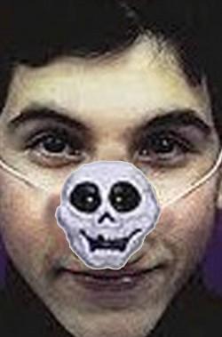 Naso finto Halloween a forma di teschio
