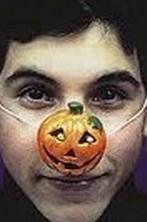 Naso finto Halloween a forma di zucca