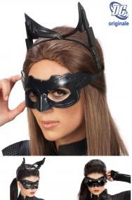 Maschera film Originale Catwoman composta da maschera cerchietto e occhiali regolabili