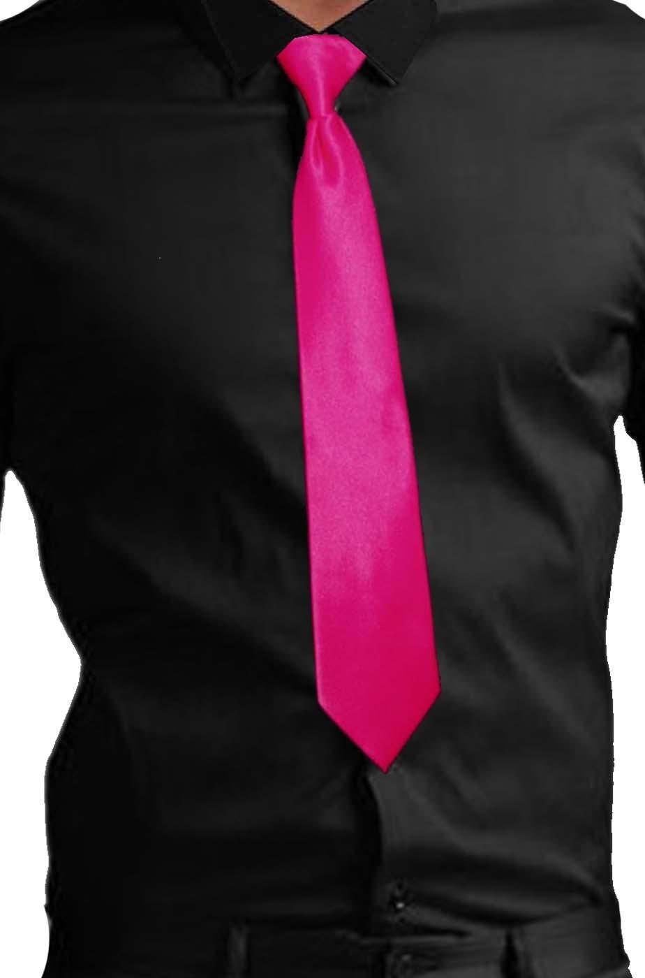 Cravatta fucsia fluo neon gangster