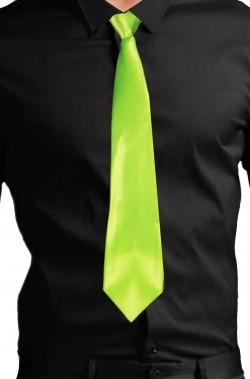 Cravatta verde fluo neon gangster