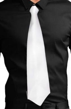 Cravatta bianca da gangster