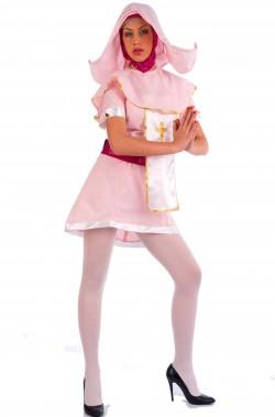 Costume donna suora o monaca rosa