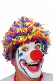 Parrucca unisex corta clown