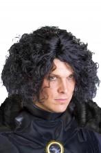 Parrucca uomo nera mossa senza frangia Jon Snow