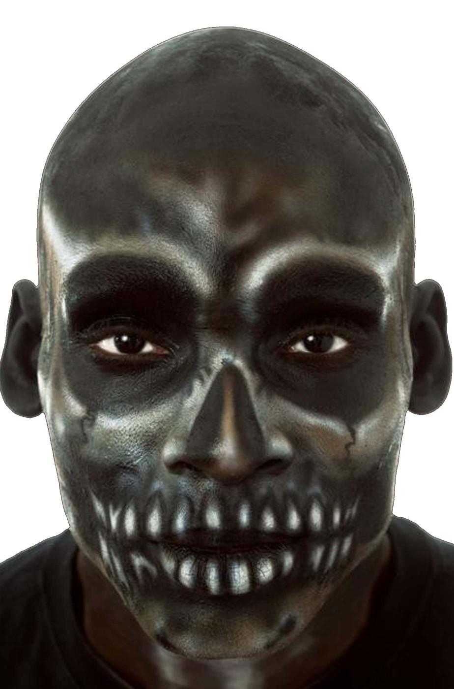 Parrucca unisex pelata nera