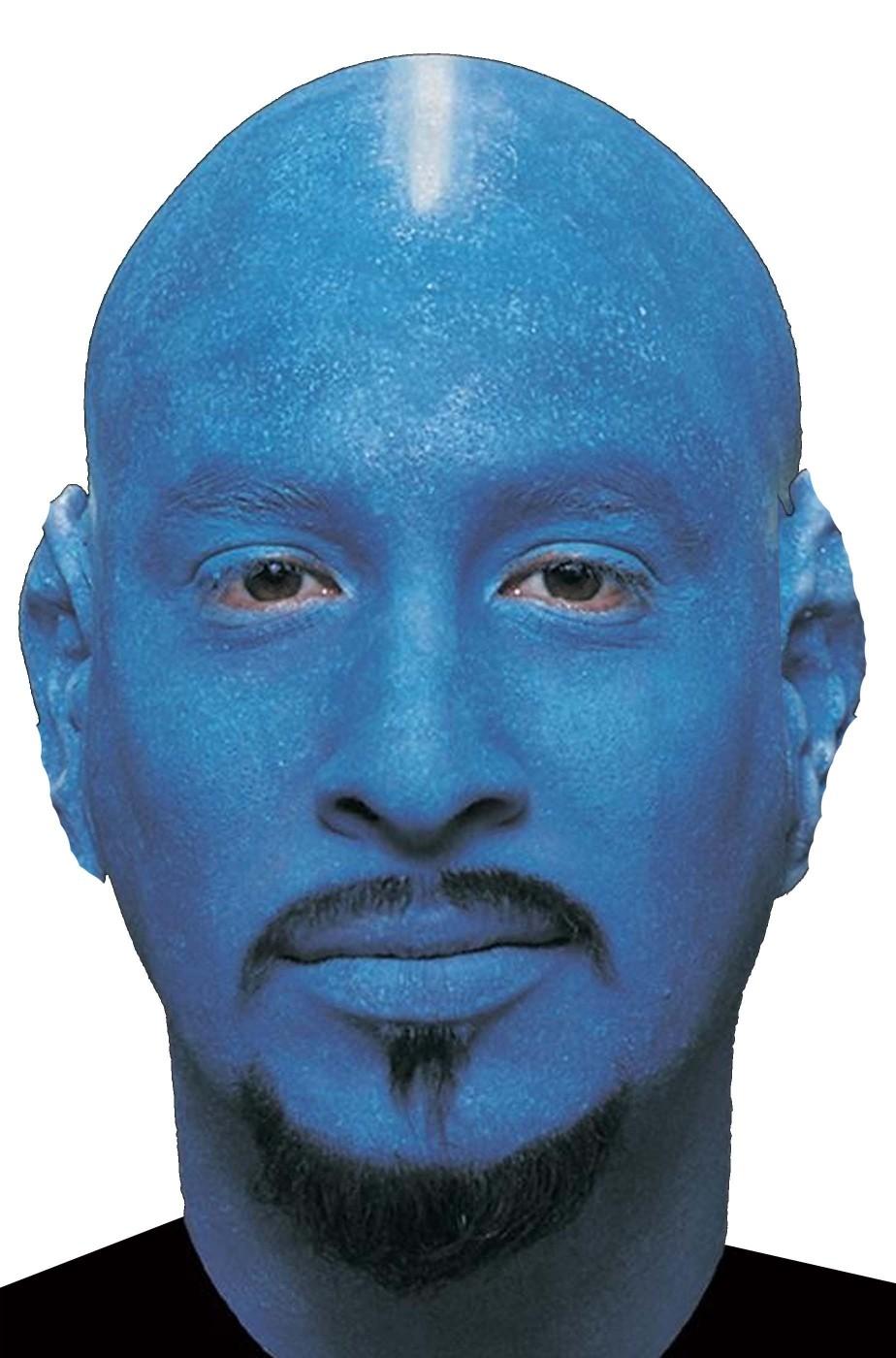 Parrucca unisex pelata blu