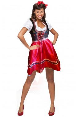 Abito originale Bavarese Dirndl donna con ricami TG42