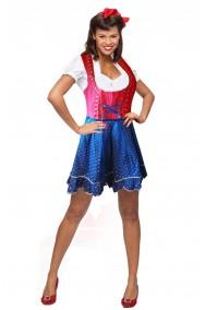 Abito tradizionale originale Bavarese tirolese Dirndl donna con ricami TG42