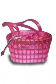 Borsa o borsetta rosa anni 20, charleston, flapper o principessa aurora
