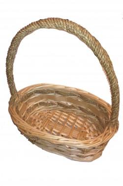 Borsetta cestino di vimini ovale per cappuccetto rosso o biancaneve