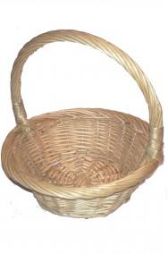 Borsetta cestino di vimini piccolo rotondo per cappuccetto rosso o biancaneve