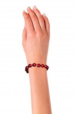 Braccialetto di perle finte rosse anni 20 anni 30